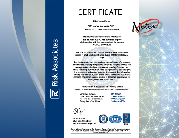 Certificare ISO