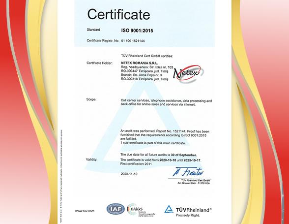 Recertificare ISO